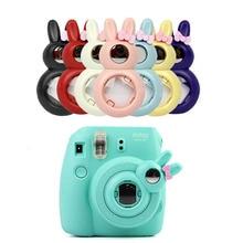 귀여운 토끼 스타일은 Fujifilm Instax Mini /8/8 +/9 인스턴트 카메라 용 렌즈 자화상 거울을 닫습니다.