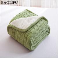100%コットン高品質羊ベルベット毛布冬のぬくもりニットウール毛布ソファ/ベッドカバーキルトニット毛布ホット販