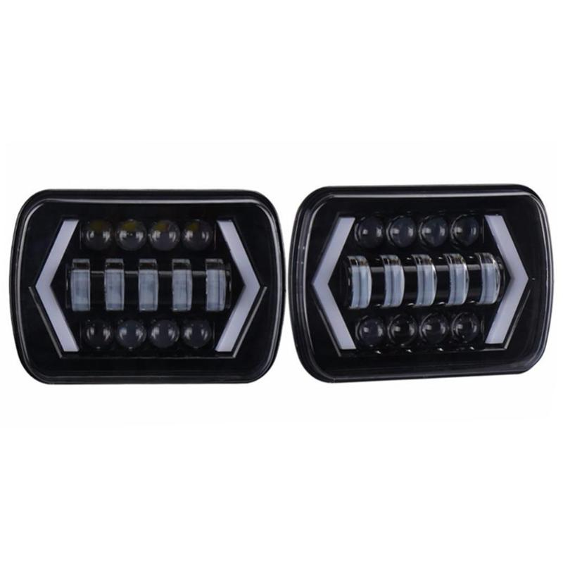 5x7in 55W Super Bright LED Projector Headlight DRL Waterproof Work Light Lamp for Jeep Wrangler YJ Cherokee XJ for Toyota compatible projector lamp casio yl 35 10294008 xj s31 xj s36