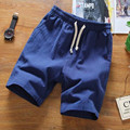 Mens Shorts Casual Linen Short Trousers Fitness Soild Color 2017 Fashion Beach Shorts Male Jogger Bermuda Plus Size 4XL 5XL