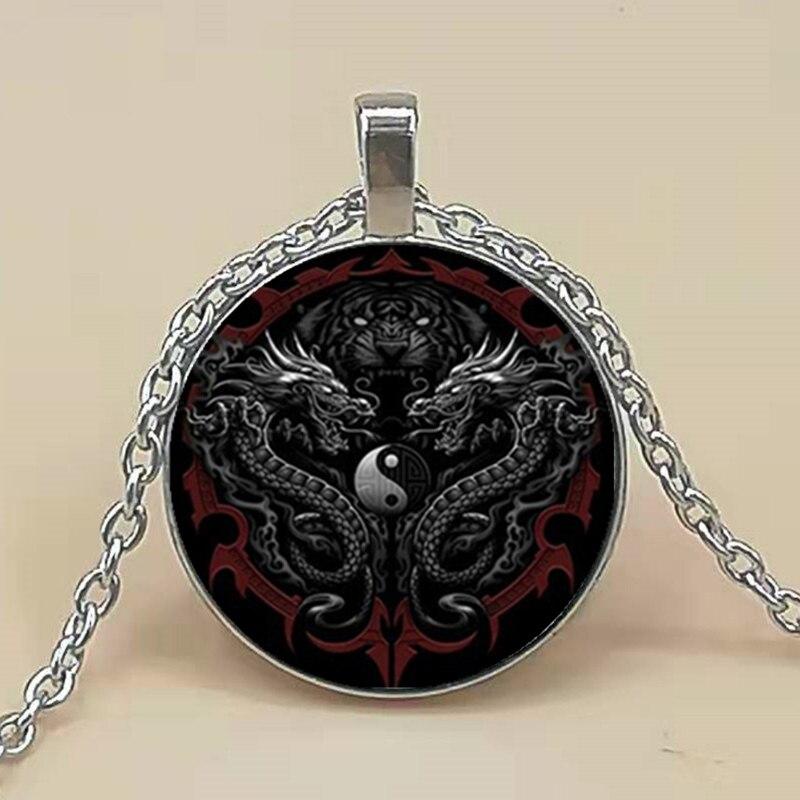 Yin Yang Dragon Pendant