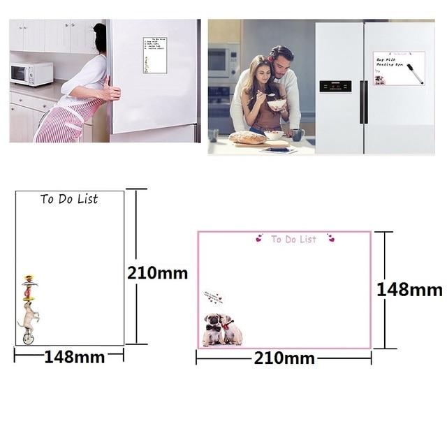 Pense bête format A5 magnétique blanc pour réfrigérateur 5
