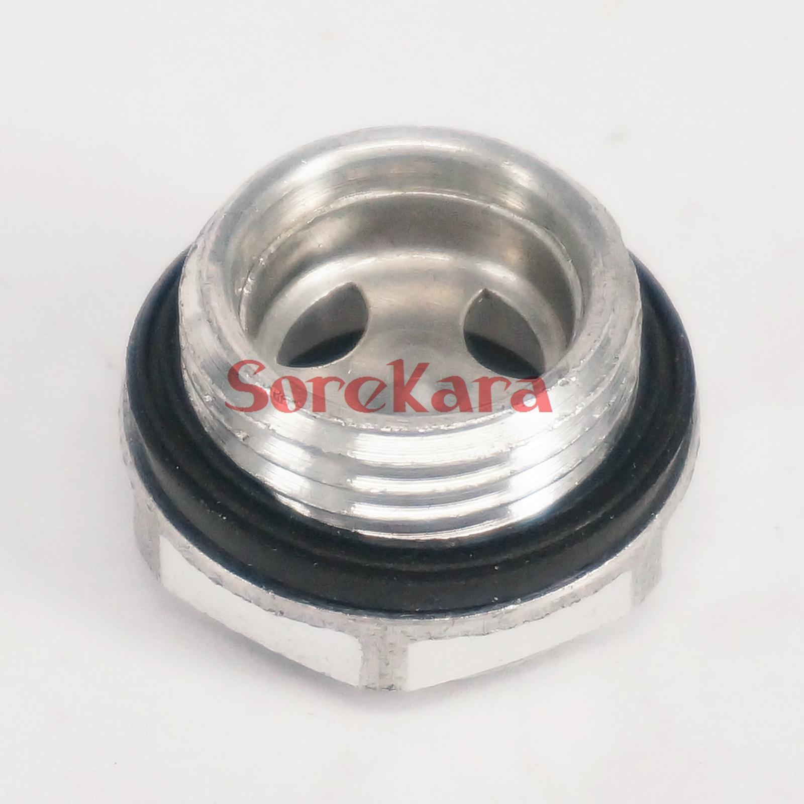 LOT 5 M33 X 1.5mm Metric Male Aluminum Oil Level Sight Glass Window Hex Head For Air Compressor Gearbox