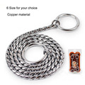New Dog Training Collars Snake P Choke Collar Metal Copper Sliver Colour Chain For Dogs 6 Types