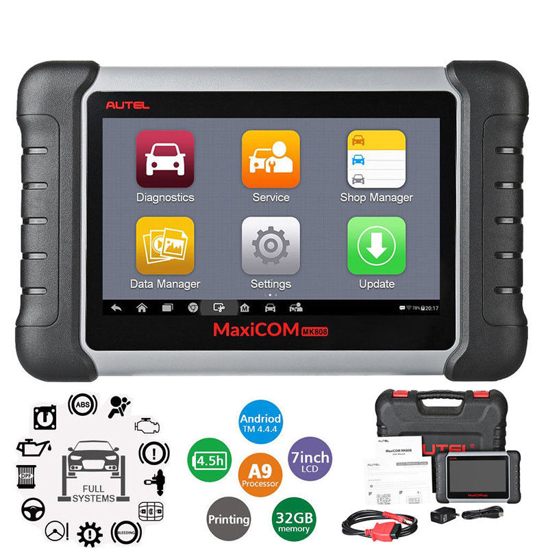 Image 2 - Autel MaxiCOM MK808 OBD2 Car Diagnostic Tool OBD 2 Automotive Scanner IMMO EPB SAS BMS TPMS DPF Service PK MD802 MaxiCheck Pro-in Engine Analyzer from Automobiles & Motorcycles