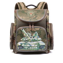 Kinder Schultasche für Jungen Military Thema Tanks Autos Gedruckt Wasserdichte Orthopädische Rucksack Mochila Infantil Grade 1-5 Bookbag