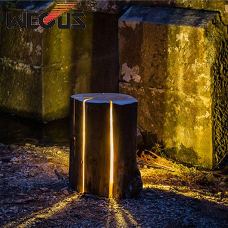 Wholesale Outdoor Fiber Glass stump light imitation tree lawn lamp creative nature landscape lighting park garden