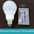 LED RGB Bulb Lamp E27 AC85-265V 4W RGB LED Spot light RGB lighting+Remote Control 16 Colors Dimmable Lampada led with memory