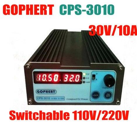 New CPS-3010 30V 10A Precision Digital Adjustable DC Power Supply Switchable 110V/220V With OVP/OCP/OTP DC Power 0.01A 0.1V cps 3205ii wholesale precision compact digital adjustable dc power supply ovp ocp otp low power 32v5a 110v 230v 0 01v 0 01a