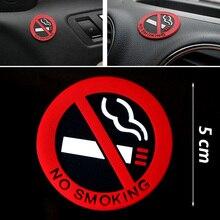 Стайлинга автомобилей, предупреждение о запрете курения логотип резиновые автомобильные наклейки(круглая) из нержавеющей стали
