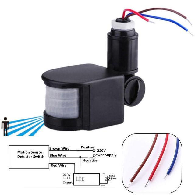 Pir Infrared Automatic Motion Sensor Detector 110 220v
