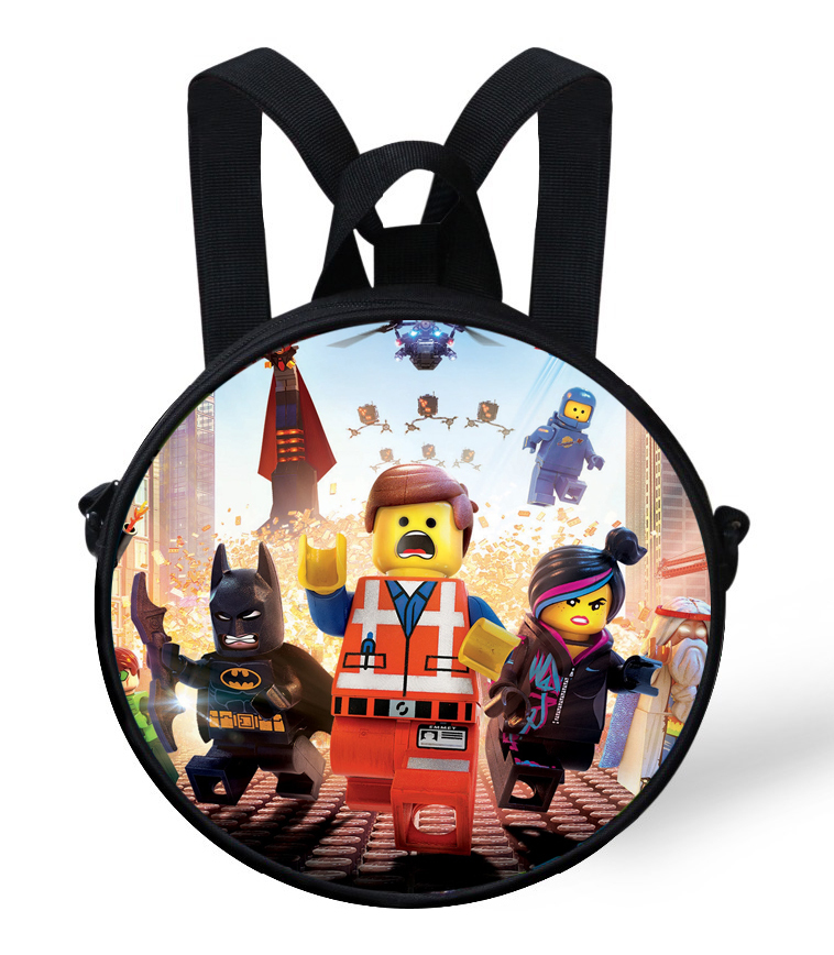 School Bags Cartoon Baby Kindergarten Bags Round Backpack Kids School Bags For Girls Bags Children Batman Ninjago Toddler Boys Backpack