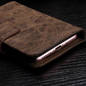Image 2 - Luxury leather Flip Phone case for iphone 6 7 8 s plus iphone x magnetic wallet cases full cover dirt resistant with card Cash