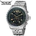 Original JARAGAR Luxo Montre Homme Relógio dos homens 6 Mãos Day/Week/24 H Auto Mecânica Relógios de Pulso Navio livre