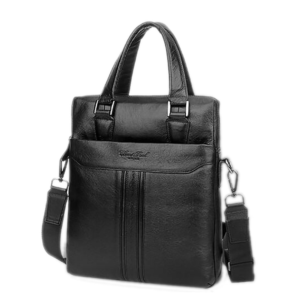 Made Of Genuine Natural Leather Men Business Handbag First Layer Cowhide Tote Bag Briefcase For Male Shoulder Messenger Bags New new style simple casual first layer of cowhide male one shoulder bag genuine leather men s handbag business messenger small bag