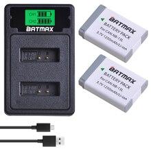 2 chiếc NB 13L NB13L NB 13L Pin + MÀN HÌNH LCD USB Sạc Loại C cho Canon G5X G7X G9X G7 X Mark II G9X Mark II SX620 HS SX720 HS