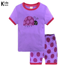 Children Girls Boys Pajamas Suits 2 -7 Years Baby Clothes Sets Infant sets T-Shirts+Shorts 2Pcs. Suit Sleepwear