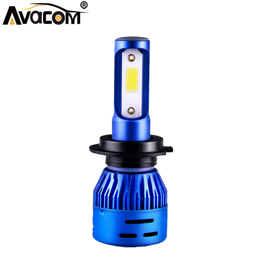 1 Pcs LED H4 HS1  Motorcycle Headlight Bulb 12V 4300K 6500K COB Chip 4000Lm 36W Super Bright Phare Moto Lamp H1 H7 H11 Moto