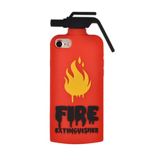 For iPhone 7 8 Cute 3D Cartoon Fire extinguishers Soft Silicone Case For iPhone  7 Plus  8 Plus Phone Back Cover