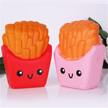 Smooshy mushy new squishy cute fairytale dreamy simulation fries fine packaging cartoon Pu food model soft slow rebound toy spot(China)