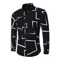 Men's Long Sleeve Shirt 2019 Fashion Casual Slim Shirt