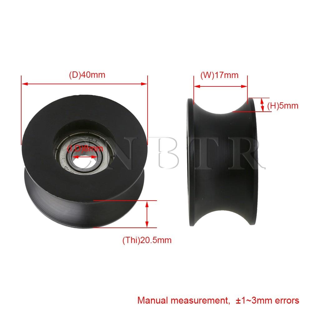 4 Set White Bearing Steel Guide Pulley Wheel Ball Bearing 8x30x8.5mm
