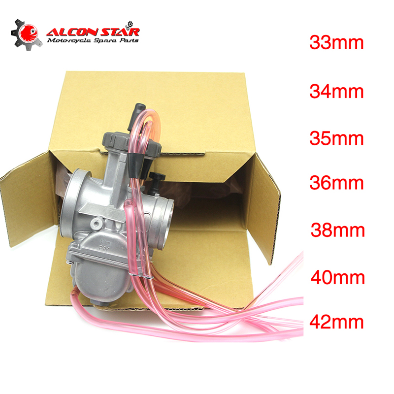 Alconstar-33 34 35 36 38 40 42mm Air Striker Motorcycle Keihin PWK Carburetor 2T/4T ATV UTV Cafe Racer XJR400 XT225 GN 250 XR400