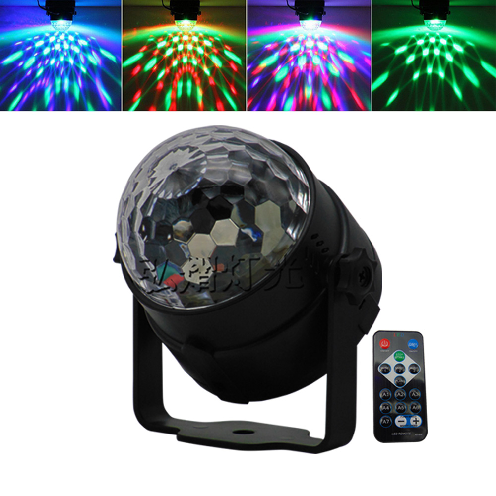 7 Colors Disco Ball Lumiere 3W Sound Activated Strobe Led RGB Stage Lighting effect Lamp Laser Christmas Dj KTV Light Party Show mini rgb led stage light 3w remote controls light disco ball lights led party lamp show stage lighting effect usb powered dv 5v