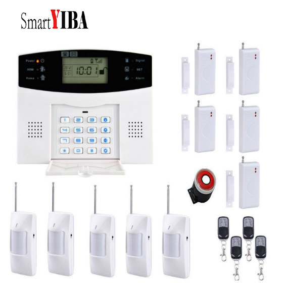 SmartYIBA Home Security Alarm Sensor Detector Alarm Siren GSM Alarm Kits Wireless Alarma English/Russian Voice For Optional wireless smoke fire detector for wireless for touch keypad panel wifi gsm home security burglar voice alarm system