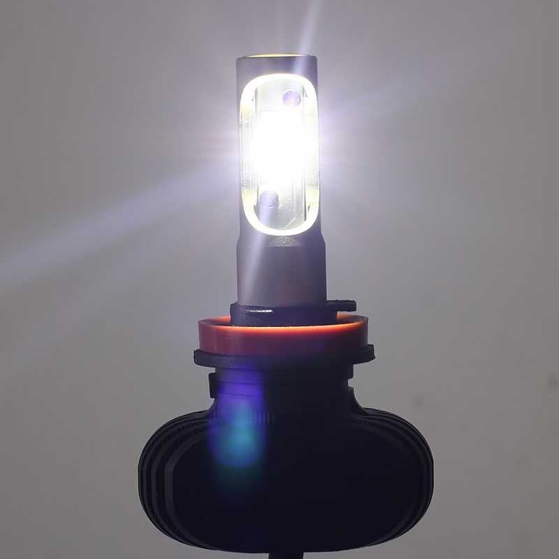 PAMPSEE S1 H4 H7 HB3 9006 H11 LED Car Headlight Bulbs Auto LED Head Lamp Hi-Lo Beam 50W 8000LM 6500K 12V 24V Offroad 4x4 truck
