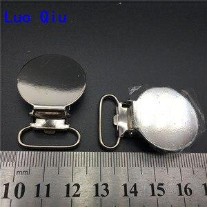 100 шт./лот 2 см 0,8 ''металлические круглые соски на подтяжках аксессуары для одежды ленты ремесло швейный Инструмент пластиковый зажим зуб