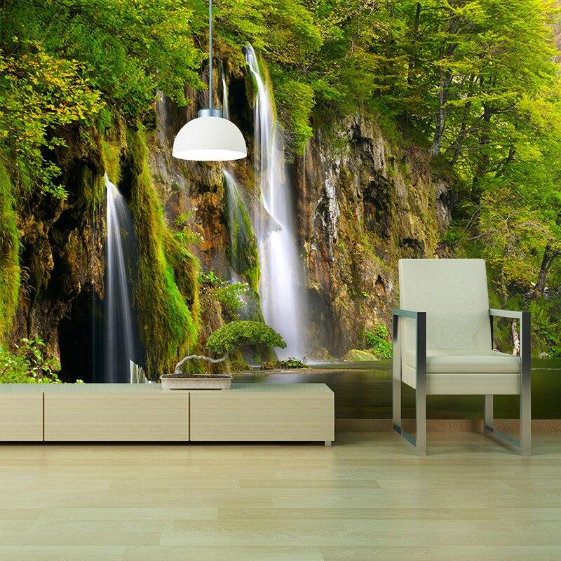 Bacaz 5D Papel Mural Wallpaper Nature Waterfall Print ...