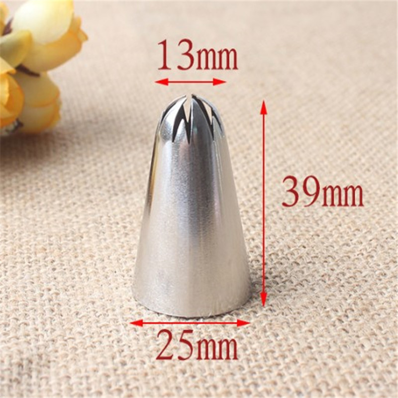 VOGVIGO 2F Stainless Steel Piping Icing Nozzle for Cream Pastry Accessories Cake Cream Decoration Fondant Pastry Baking Tools in Baking Pastry Tools from Home Garden