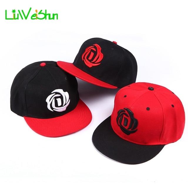 36d63f5388e  LWS  Women Baseball Cap With Straight Visor Snapback Hats Girl Hip hop  Adjustable Embroider