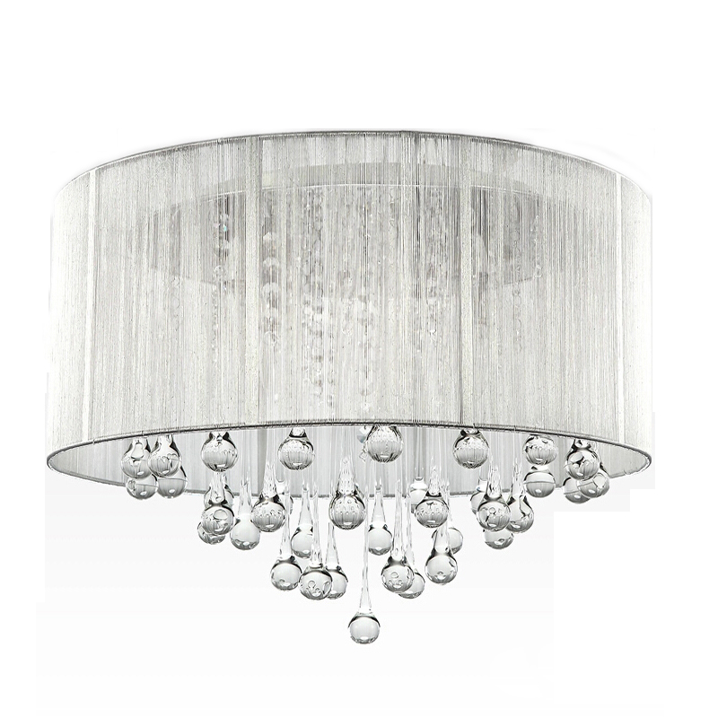 Ceiling Lamp Shades For Living Room: Modern Drawing Shade Crystal Ceiling Lights For Living