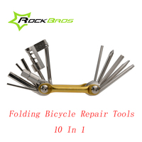 ROCKBROS Multifunctional Bicycle Repair Folding Tools Sets Kit Wrench Screwdriver Chain Cutter Portable MTB Bike Accessories