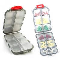 Nuevo viaje práctico caja de pastillas de medicina 12 rejillas dispensador de pastillas organizador tableta caja de pastillas contenedor divisor de drogas