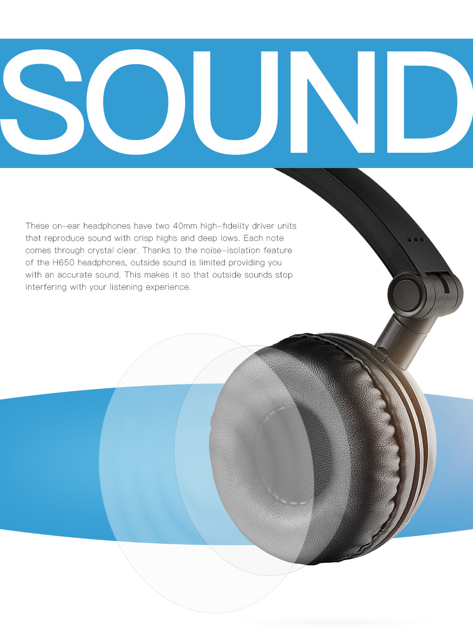Edifier H650 Foldable Headphones Noise Canceling HiFi Earphone Headset With Non-tangling Wire 40mm with 6 Colors 12