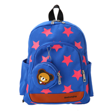 Холст милый звездный узор Школьные сумки Дети Путешествия Рюкзак в детский сад школьные рюкзаки в форме игрушек wth портмоне 4 цвета