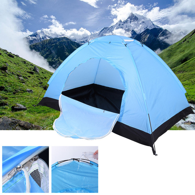 Hot Sale !! One&Two Bedroom Outdoor Single Tents Hiking& Camping Tents High Strength Fibre Glass FRP Pole Waterproof  Windproof
