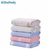 kidadndy Baby Blanket Newborn120 * 120cm Quilt Toddler Organic Cotton Towel Animal Soft Linen Bed