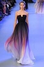купить Colorful Fashion A-Line Strapless Vestido De Festa Prom Party Dresses Women Dress Robe De Soiree Long Evening Dress 2015 BE01 по цене 7555.22 рублей