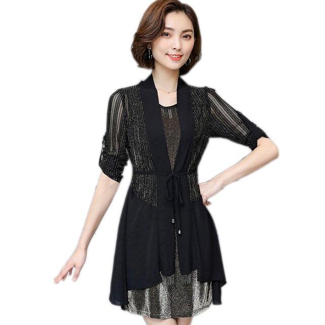2018 Spring Summer Bandage 2 Piece Dress Plus Size Women Dress