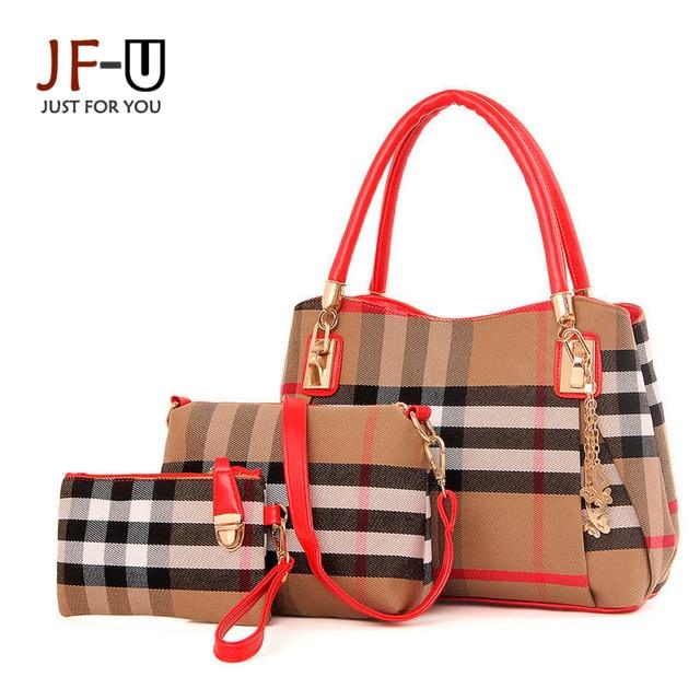 2016 New Luxury Handbags Women Bags Designer Leather Bags Women Shoulder Bags Women Tote Bag Plaid Sac A Main Femme De Marque