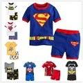 2016 nuevo algodón del verano de manga corta arropa los sistemas niños pijamas niñas pijama niños pijamas de los niños poca ropa