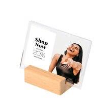 100*70 мм акриловая подставка для знаков бумажная бирка карточка