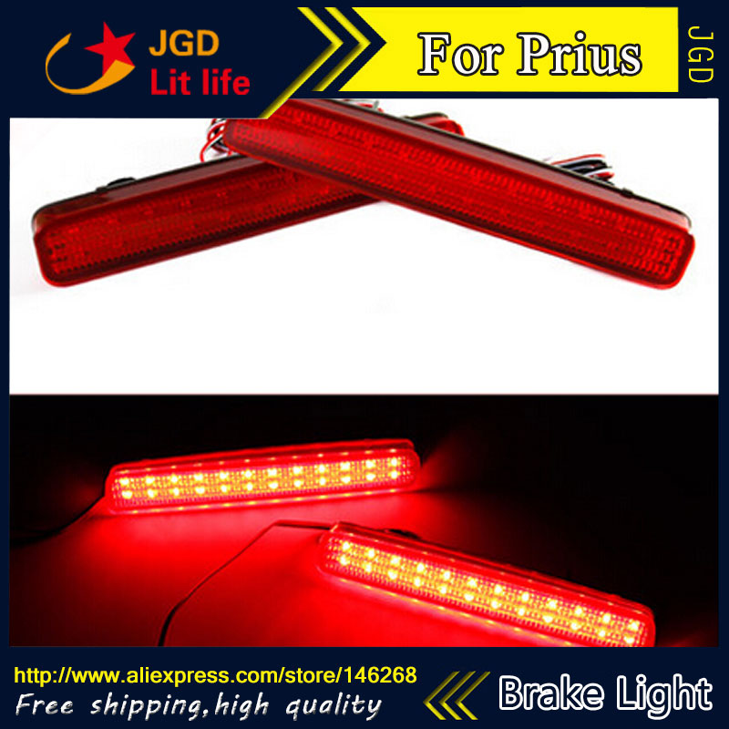 Free shipping <font><b>Tail</b></font> light parking warning rear bumper reflector for Toyota Prius Car styling