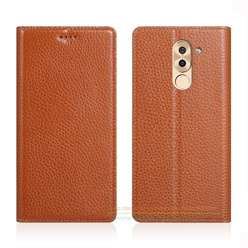 Invisible Magnet Genuine Leather Case For font b Huawei b font Honor 6X Mate 9 Lite