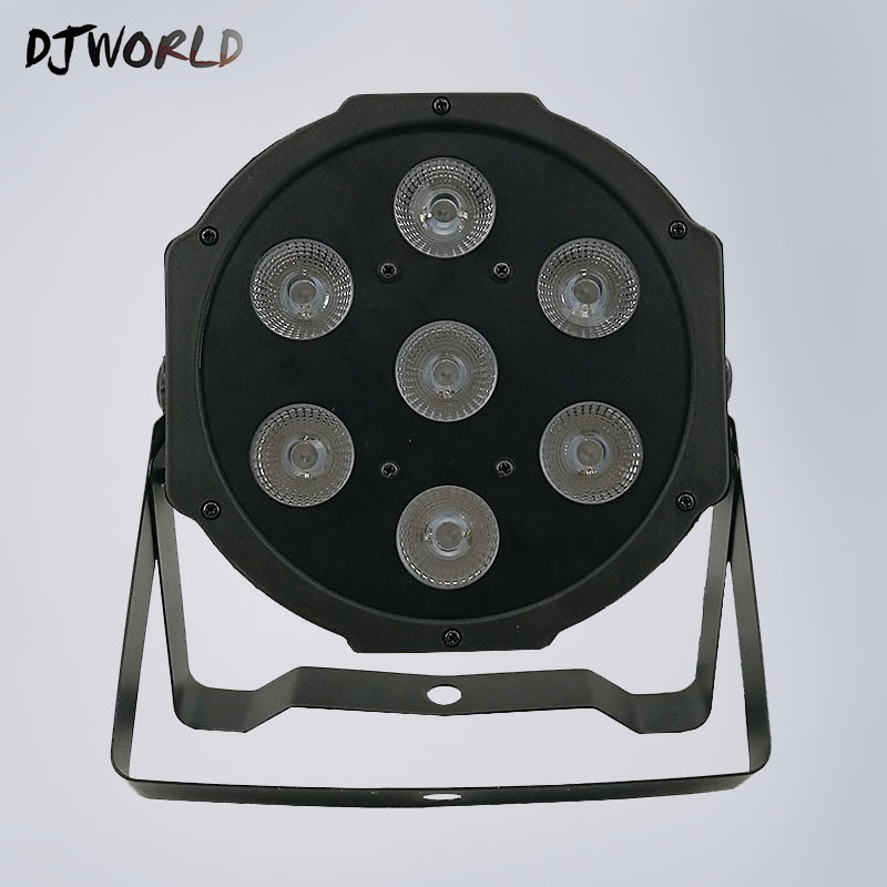LED Flat Par 7x3 Watt White Color Stage Lighting 5 Channels Business Lights High Power Light DMX Professional For Party Disco