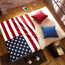 large 130x160cm American flag office nap blanket Union jack lambs wool double in the fall and winter